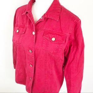 Pendleton Washed Red Denim Jacket L